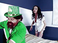 Leprechaun gets lucky enough to taste a hot doctor's ass
