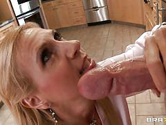 A meaty cock for the blonde milf