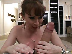 Milf with natural tits obsessed with young guys