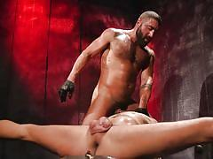 ball gag, bdsm, torture, rope bondage, deepthroat, breath play, domination, muscular, face fuck, stretching, bound gods, kink men, chance summerlin, sharok