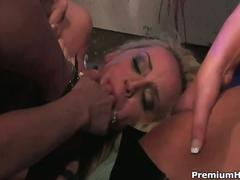 Raw lesbian anal gangbang