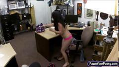 Busty cuban slut fucked by pawnkeeper in pawshops office