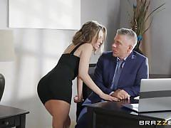 handjob, babe, big cock, deepthroat, pussy licking, office sex, pov, on table, real wife stories, brazzers, kimmy granger, mick blue