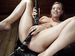 orgasm, blonde, bdsm, big tits, babe, dildo, vibrator, fucking machines, kink, giselle palmer
