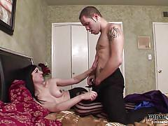 Aly gives a great blowjob and gets her cock sucked
