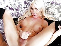 Sweet shemale vs a big black cock @ ts playground #29