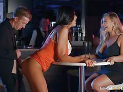 milf, blonde, threesome, handjob, big tits, public, blowjob, huge cock, brunette, from behind, mff, milfs like it big, brazzers, ava koxxx, danny d