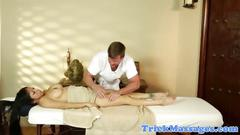 Stacked asian massage table babe groped