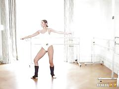 Sexy brunette ballet dancer gonna get her ass fucked