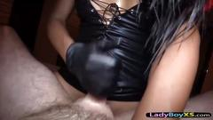 Fetish clothes awesome ladyboy and reverse fuck pov