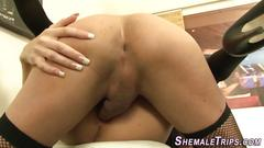 Stockings shemales fuck