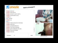 Playing with a stranger on chatroulette