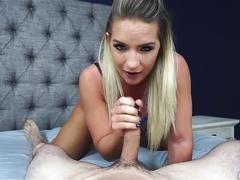 Amazing blue eyes and an endless throat (cali carter)