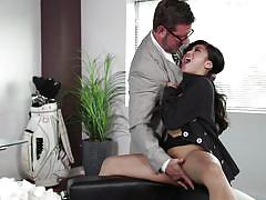 babe, interracial, asian, office, blowjob, pussy licking, from behind, hard fucking, wicked pictures, ember snow