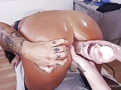 milf, lesbian, tattoo, anal, redhead, stockings, medical, oiled, glass dildo, everything butt, kink, alexa nova, simone garza