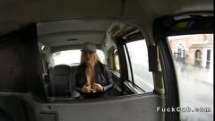 Busty british nymphomaniac in a fake taxi fucks