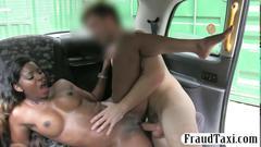 Black babe rammed in a car