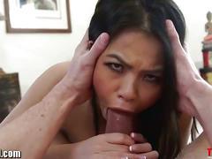 Cindy starfall loves to gag on hard cocks