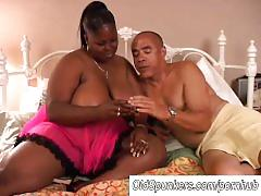 Beautiful mature black bbw subrina loves to fuck