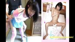 Kotooki karinaoi tajima petite teen exploring sex in her debut wearing pink outfit