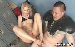 Nasty babes playing with cocks