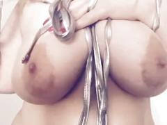 Big tit blonde plays with tits and moans for you