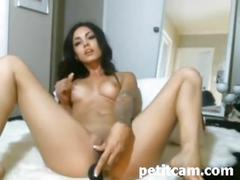 big tits, brunette, masturbation, toys, webcam, sexybitch, tattooedbabe