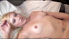 Voyeur blowjob and bedroom masturbation