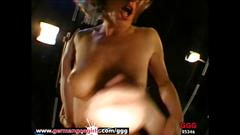 Milf celine double penetrated and cum covered german goo girls
