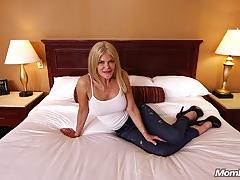 Sexy escort deepthroating a cock on camera