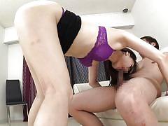 milf, blowjob, kissing, brunette, censored, hairy cock, cock riding, milfs in japan, erito, nanami hirose