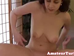 Close up amateur babe cocksucking and riding