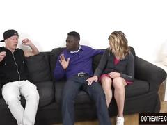Married floozy elissen sweet takes a big black dick up her ass