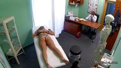 Doctor fucks the babe as she came for a check up