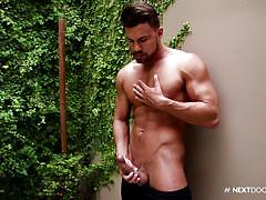 Gay stud wanks off while you watch