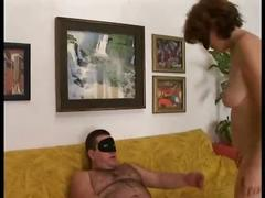 Italian straight daddy bear fucks a woman