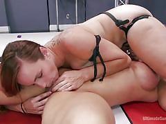 milf, bdsm, strapon, lesbians, big tits, redhead, wrestling, pussy licking, fighting, standing 69, divine bitches, kink, bella rossi, brandi mae
