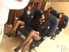 Stewardess creampie party2