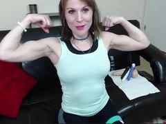fetish, muscle girl flex, mature muscle, biceps, flexing, muscles