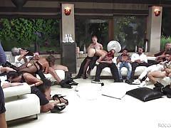 A hot orgy @ live shows - september