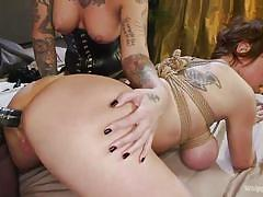 milf, anal, bdsm, strapon, lesbians, big tits, lesbian threesome, tattooed, lezdom, rope bondage, whipped ass, kink, cherry torn, kleio valentien, dee williams