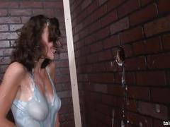 Slimewave emylia argan gets her tutu covered in cum