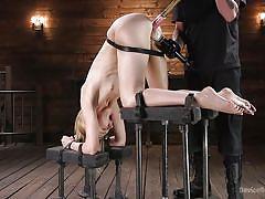 blonde, bdsm, babe, bound, punishment, masturbation, fingering, tied up, dildo fuck, device bondage, kink, the pope, alexa grace