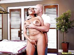 tattoo, big ass, black, bikini, stripping, big boobs, pussy licking, pussy rubbing, billiard table, tit rubbing, tit licking, round and brown, reality kings, jmac, moriah mills