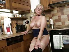 Naughty milf plays with her vagina