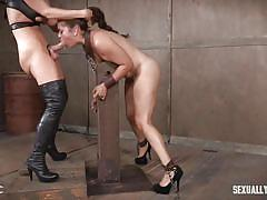 milf, bdsm, strapon, big tits, babe, domination, face fuck, from behind, device bondage, sex dungeon, sexually broken, ziggy star, dee williams