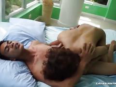 Cum dripping asian style bareback