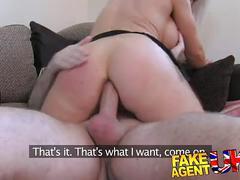 Fakeagentuk dirty hot blonde loves a bit of anal sex