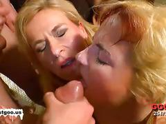 Jizz fest with two blonde bombshells