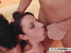 2 on 2 horny brunettes fucked in the ass by big cocks gb-16-03
